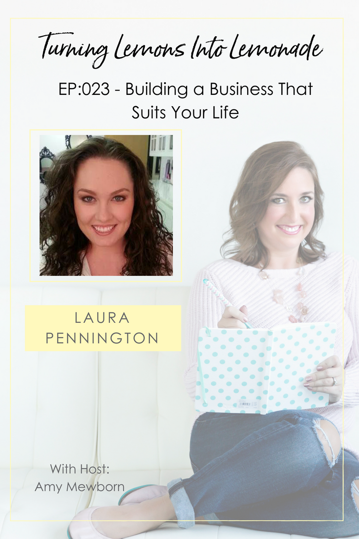 The Turning Lemons Into Lemonade Podcast with Amy Mewborn - Guest Laura Pennington