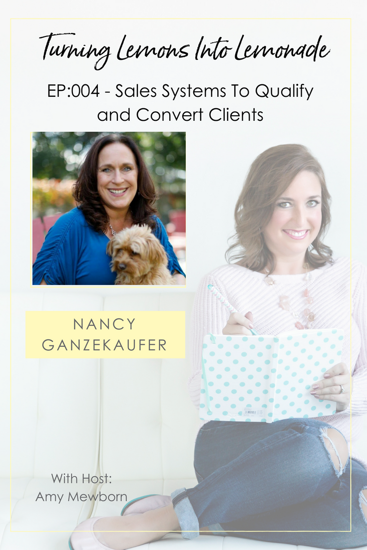 The Turning Lemons Into Lemonade Podcast with Amy Mewborn - Guest Nancy Ganzekaufer
